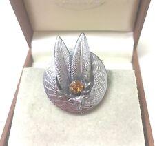 Stags Head Brooch Pin Vintage Jewellery Lovely Signed Mizpah