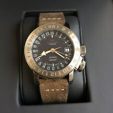 Glycine Airman 18 GMT World Timer Automatic Watch 38mm GL0229 with Box + Papers
