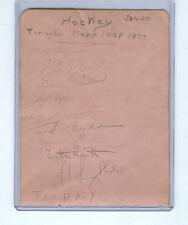 1936-37 TORONTO MAPLE LEAFS SIGNED PAGE TURK BRODA/CONN SMYTHE/FOSTER HEWITT x10