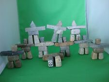"""TEN PIECES 3"""" INUKSHUK CARVING SOAPSTONE INUIT AND ESKIMO TAG"""