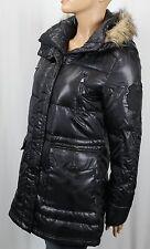 Ralph Lauren Black Faux Fur Hooded Down Filled Puffer Coat Jacket NWT $350