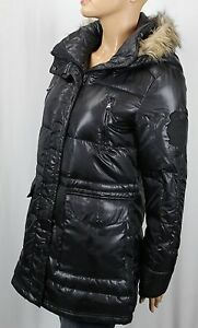 Ralph Lauren Black Faux Fur Hooded Down Filled Puffer Coat Jacket NWT $350