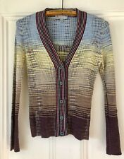 Missoni Ombre Knit Wool Blend V Neck Cardigan Sweater Top Sz 6 / 42  ITALY