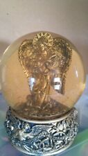 Musical Gold Angel with Harp Snow Globe (Joy to the World)