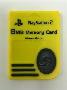 NYKO Yellow 8 MB Memory Card MagicGate for Sony PlayStation 2 PS2