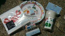 Paperchase Boy Girl Mare Pesce Granchio Festa Di Compleanno Set Tovaglioli Piastra Coppa