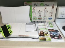 Nintendo Wii Fit Plus + 2 Balance Board + 4 Games And Zoomba Belt