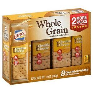 Lance Whole Grain Cheddar Cheese Sandwich Crackers