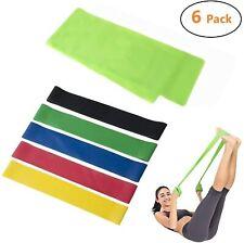 Cymax Fitnessbänder Widerstandsbänder Fitnessband Gymnastikband 6er Set 5Stärken