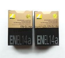 2 x EN-EL14a New Batteries For Nikon Coolpix D5300 P7800 Df camera EN-EL14 EL14a