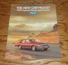 Original 1978 Chevrolet Caprice Classic & Impala Sales Brochure 78 Chevy 7/77