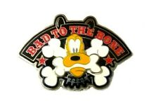 Walt Disney 3 D Pin Pluto Bad to the Bone Red Stars Spiked Collar Crossbones