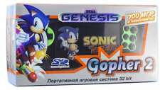 Sega Genesis Gopher 2 Portable Game Player Green (SMD,SMS,SNES,NES,GBC)700 Games