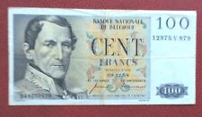 Belgique -  Joli Billet de 100 Francs  du 09-12--1958