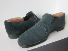 TRUE VINTAGE 1960s NORVIC SCALLYWAGS SHOES (8.5) BOTTLE GREEN SUEDE SLIP-ON Exce