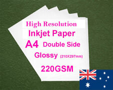 30 sheets A4 220GSM Inkjet & Laser Double Side Glossy Photo Paper
