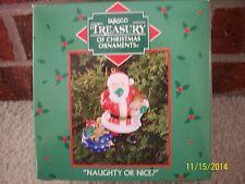 "Enesco Treasury of Christmas Ornaments  ""Naughty or Nice"" New in Box"