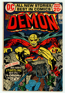 JERRY WEIST ESTATE: THE DEMON #1 (DC 1972) FN condition Kirby! NO RES!