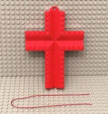 Lego Large Red Cross Christmas Tree Ornament Reinforced Back With Double Plate
