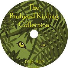 Rudyard Kipling Unabridged Audio Book Collection 1 MP3 DVD Jungle Kim FREE SHIP