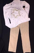 GYMBOREE Girls Sz 7 8 Gold Star of Show Sparkle Top Shirt Corduroy Pants