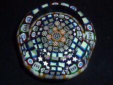 1992A Perthshire Complex Millefiori Paperweight Unique Square Canes LE #310 wBox