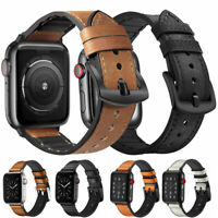 Genuine Leather Watch Strap Bracelet Band For Apple Watch 5/4/3/2 iWatch 40/44mm