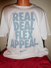 New NIKE REAL DEAL FLEX APPEAL Tee (White) - Men's Size Large T-Shirt