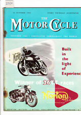 October Motor Cycle Weekly Magazines in English
