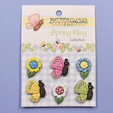 Buttons Galore Spring Fling Collection Butterflies Daisies - SF102  Dress it Up