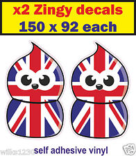 Union Jack england edf zingy Fun Car Decal Motorcycle mini van bus sticker dub