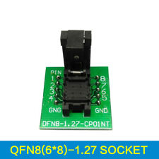 QFN8 DFN8 WSON8 Programmer Test Socket Pin Pitch 1.27mm IC Size 6*8mm Adapter