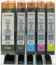 Canon Genuine PGI-570PGBk CLI-571Bk CLI-571C CLI-571M CLI-571Y Set. New / Sealed