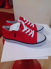 Polo Ralph Lauren Red Trainers Shoes Size 2 UK Brand New