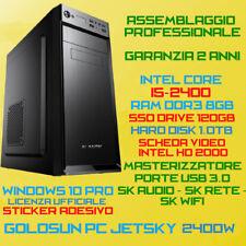COMPUTER ASSEMBLATO PC INTEL Core i5-2400 RAM 8GB SSD120GB HDD1TB DVDRW WIN10PRO
