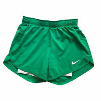 Nike Dri-Fit Training Running Shorts Flex 2 in 1 Lined Green Women's Size XS