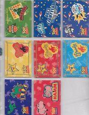 DISNEY TOY STORY STICKER BADGE 8-CARD SET BY SKYBOX 1995