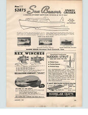 1949 PAPER AD Sea Beaver Sports Cruiser 24' Motor Boat
