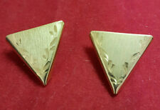 Square Dance Collar Tips. Gold Color MINT Condition. Nice Design