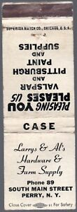 LARRYS & AL'S HARDWARE & FARM SUPPLY PERRY NY 20 FS MATCHBOOK COVER LOW PHONE 89