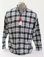 Izod Plaid Light Flannel Long Sleeve Button Front Shirt Men's XL NWT