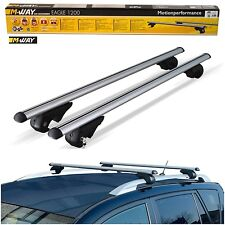 Mway 90kg Lockable Aluminium Roof Rack Rail Bars for Land Rover Freelander 99-06
