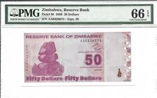 Zimbabwe, 50 Dollars, 2009, P-96, Uncirculated PMG 66 EPQ