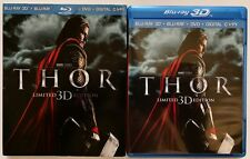 MARVEL THOR 3D BLU RAY DVD LIMITED EDITION + RARE OOP SLIPCOVER SLEEVE BUY IT