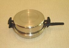 """ASHCRAFT / WEST BEND 304-S STAINLESS STEEL 11.5"""" SKILLET FRY PAN MINT CONDITION"""