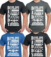 Daddy  Dad My  Our  Favourite Superhero Mens Funny Fathers Day T-Shirt Xmas