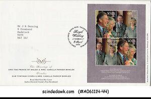 GREAT BRITAIN - 2005 ROYAL WEDDING - PRINCE CHARLES & CAMILLA - M/S - FDC