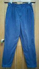 TALL GALS! 16 LONG LEE CASUALS WRINKLE FREE NAVY PLEATED FRONT CHINO KHAKI PANTS