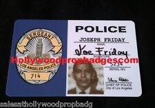 "Joe Friday ""DRAGNET"" 60's Tv Show ID Card Prop"