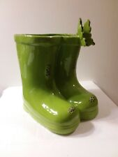 Cracker Barrel Little Girls Stoneware Boots Vase /Umbrella Holder / Room Decor